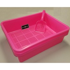 Deluxe Kitter Litter Tray Set - Pink Colour