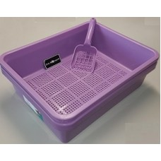 Deluxe Kitter Litter Tray Set - Purple Colour