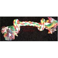 """Rope Knot Bone X/Small 17mm X 6"""""""