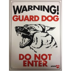 Plast.GateSign-Guard Dog - Do Not Enter