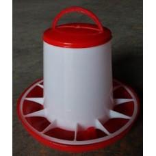 Plastic Red/White Poultry Feeder 1kg