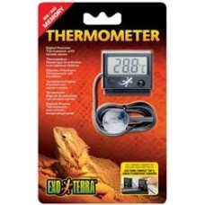Led Thermometer With Probe/Light 0-70