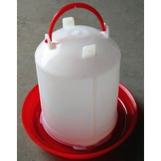 Plastic Red/White Poultry Drinker 1L