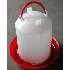Plastic Red/White Poultry Drinker 2L