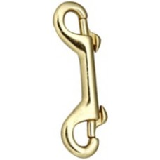 Brass Double Ended Snap Hook 4""